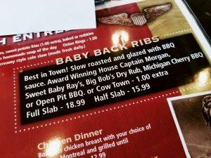 Sugarbush Tavern Baby Back Ribs