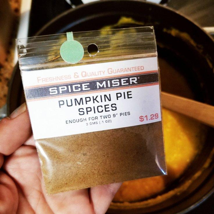 Spice Miser - Pumpkin Pie Spices - seasoning packet from Eastern Market