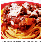 Zesty Spaghetti Sauce RECIPE With Ancient Harvest Pasta, Tri-Color Peppers, Ground Beef, & Italian Sausage (Slow-Cooker)