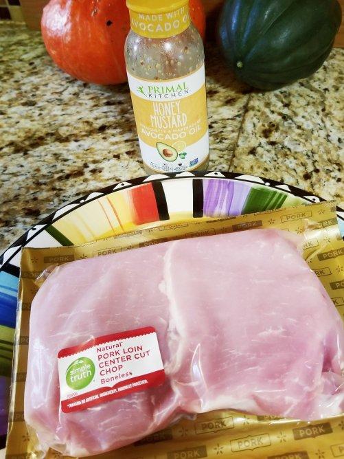 Primal Kitchen Honey Mustard & Simple Truth Center Cut Pork Chops