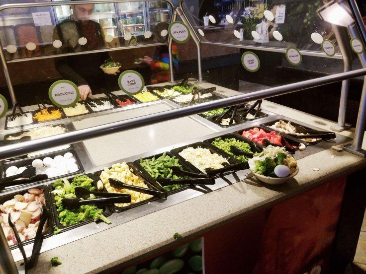 Veggies galore at bd's Mongolian Grill