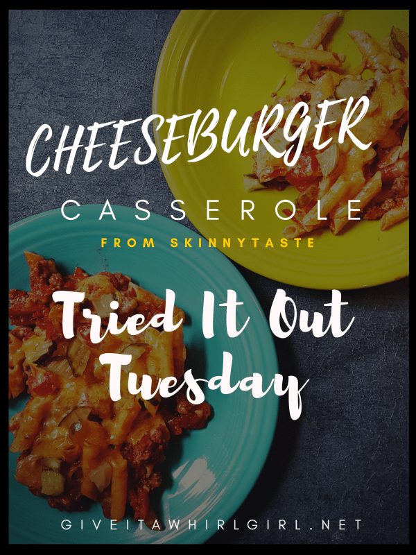 Cheeseburger Casserole From SkinnyTaste