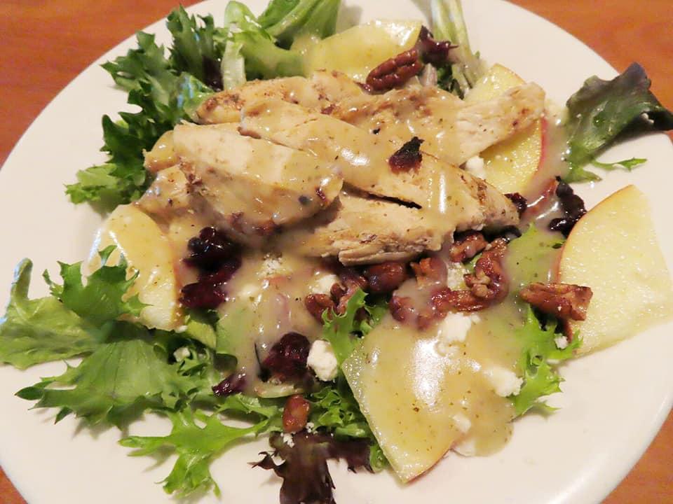 Gala Apple Pecan Salad With Chicken at Olga's