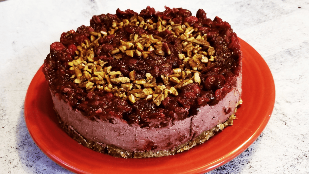 Paleo Cranberry Cheesecake