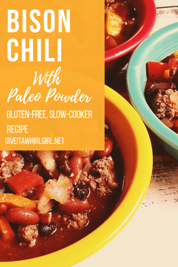 Bison Chili RECIPE with Paleo Powder