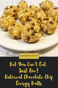 Bet You Can't Eat Just One! Oatmeal Chocolate Chip Energy Balls (Gluten-Free) RECIPE
