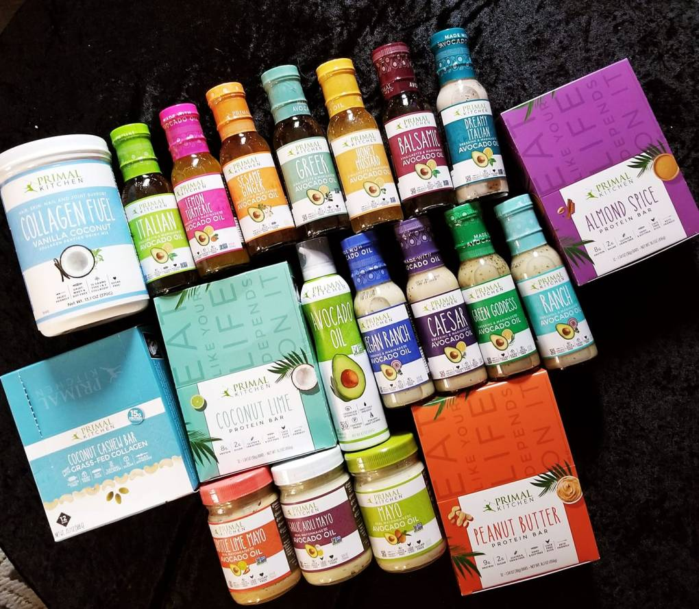 Primal Kitchen haul of healthy foods