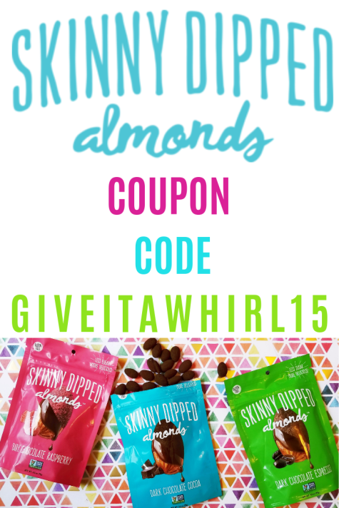 Skinny Dipped Almonds Coupon code - GIVEITAWHIRL15