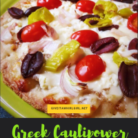 Greek Caulipower Pizza RECIPE With Primal Kitchen (Gluten-Free, Vegetarian)