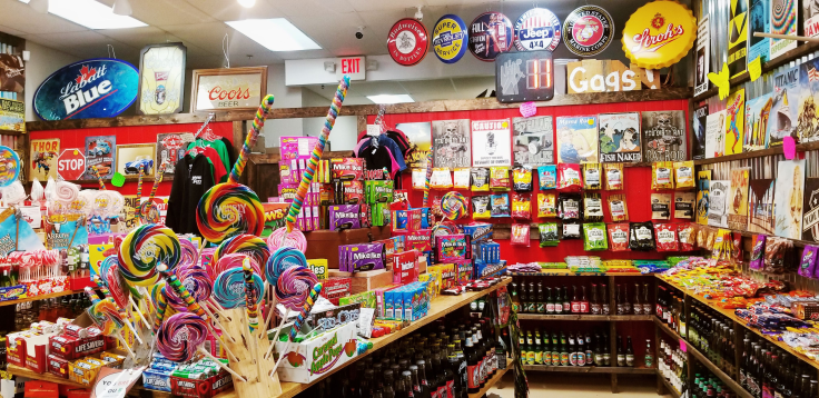 Rocket Fizz inside of store