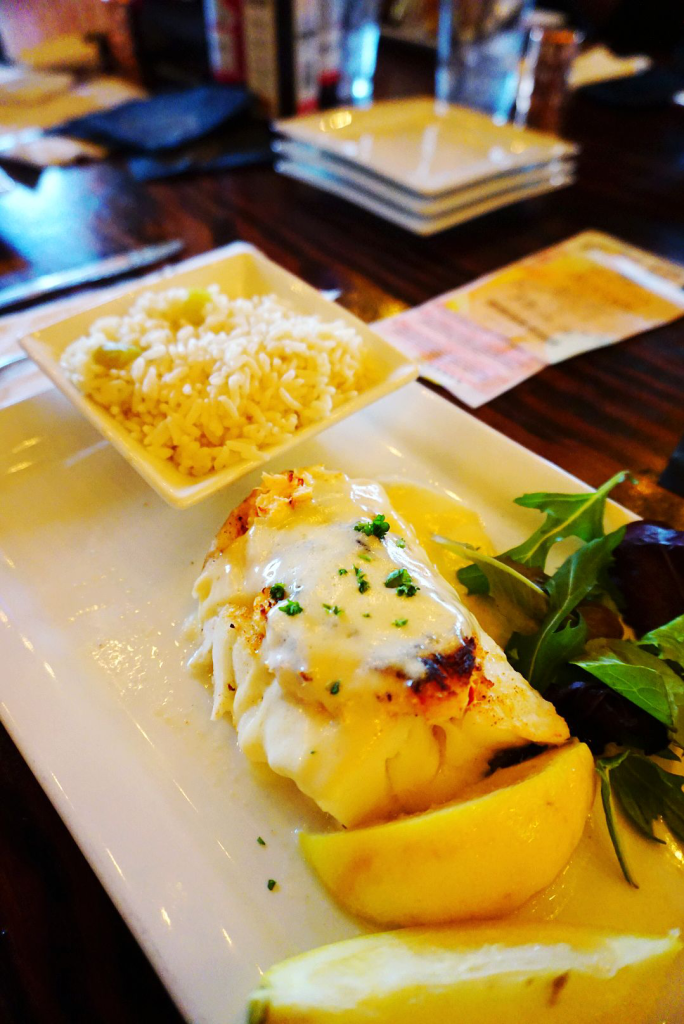 Lobster stuffed cod at Terry's Terrace a REVIEW by GIVE IT A WHIRL GIRL