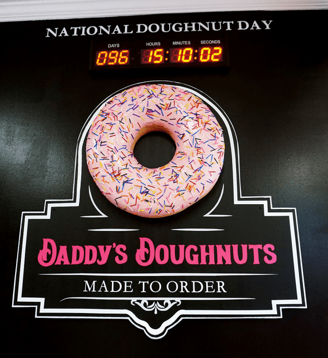 Daddy's Doughnuts is already counting down the days until National Doughnut Day!