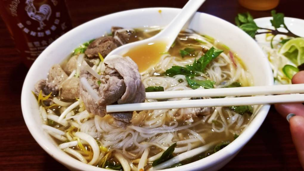 Big bowl of yummy pho at Minh Chau (now known as New Asian Star)