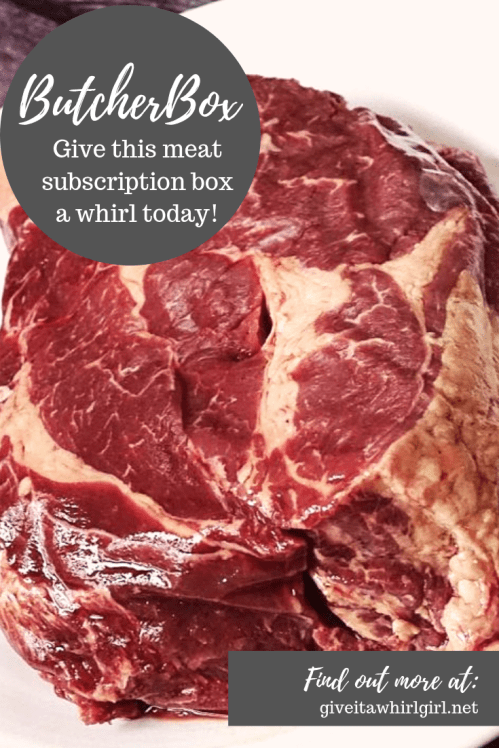 ButcherBox Review By Give It A Whirl Girl (Chuck Roast) Meat Subscription Box