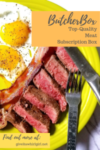 ButcherBox Review By Give It A Whirl Girl (Chuck Roast) Meat Subscription Box (Steak & Eggs with ButcherBox Flat Iron Steak)