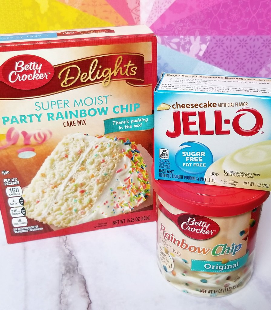 Some of the key ingredients for my Super Duper Moist Cake Balls!
