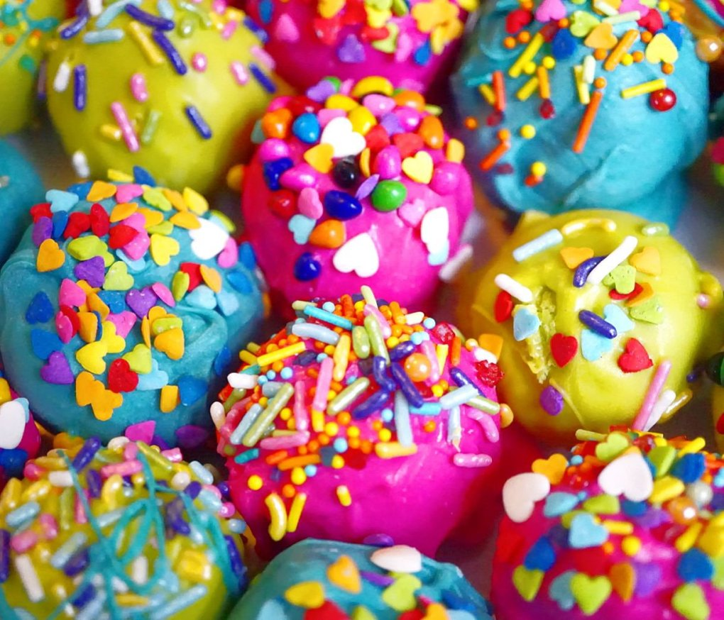 Each and every Super Duper Moist Cake Ball is unique