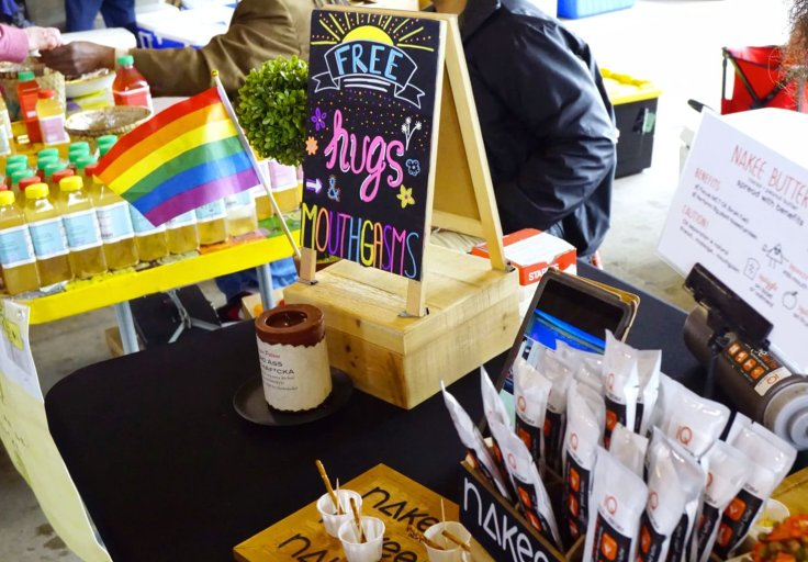 Free hugs and mouthgasms at this nut butter vendor's stand - Eastern Market