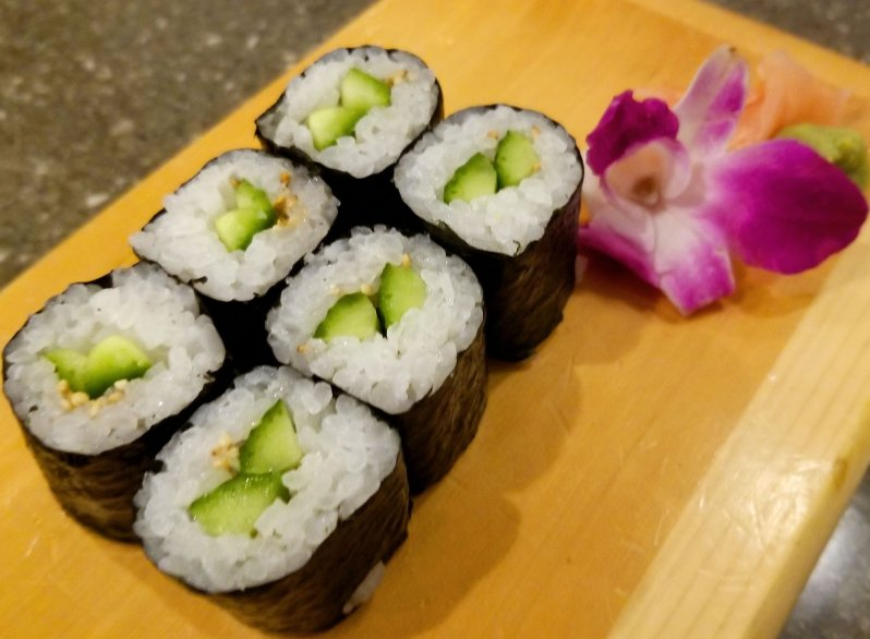 Cucumber sushi roll at Sagano Japanese Steakhouse