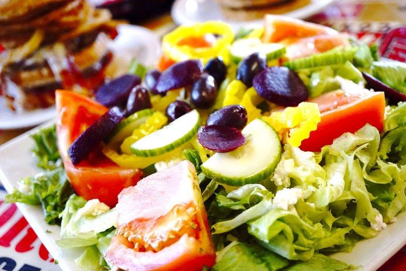 Big Greek Salad at Seeburger's Cheeseburgers