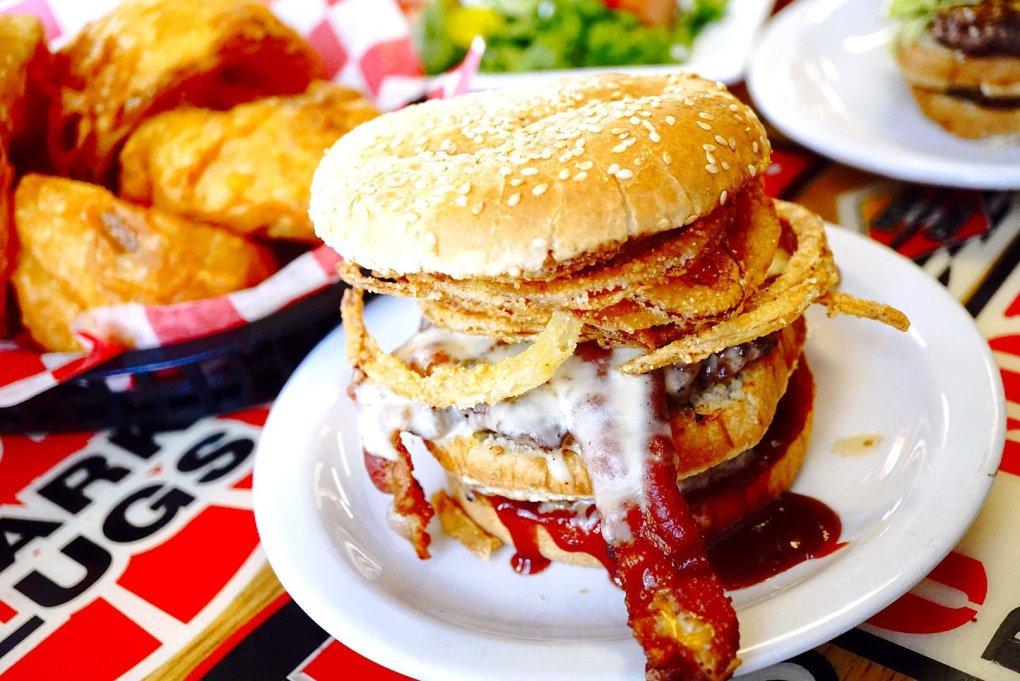 The Phat Gratiot Burger at Seeburger's Cheeseburgers