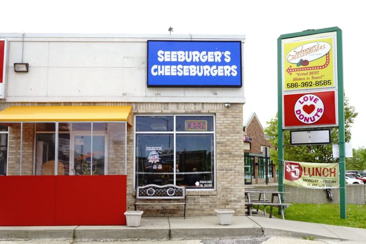 Seeburger's Cheeseburgers is located on Gratiot in Roseville