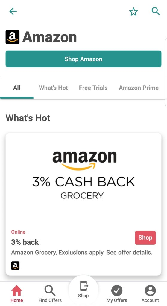 Earn cashback on purchases at Amazon with the mobile app Ibotta