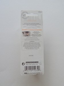 NYC Cover Stick back of package