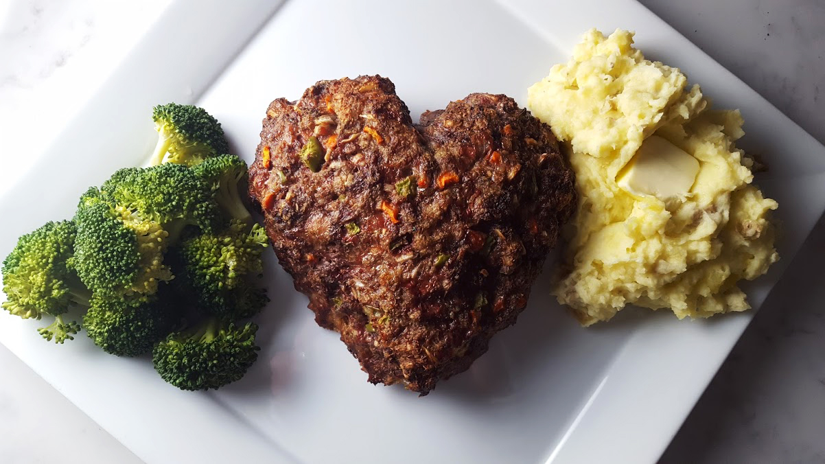 heart meatloaf for valentine's day