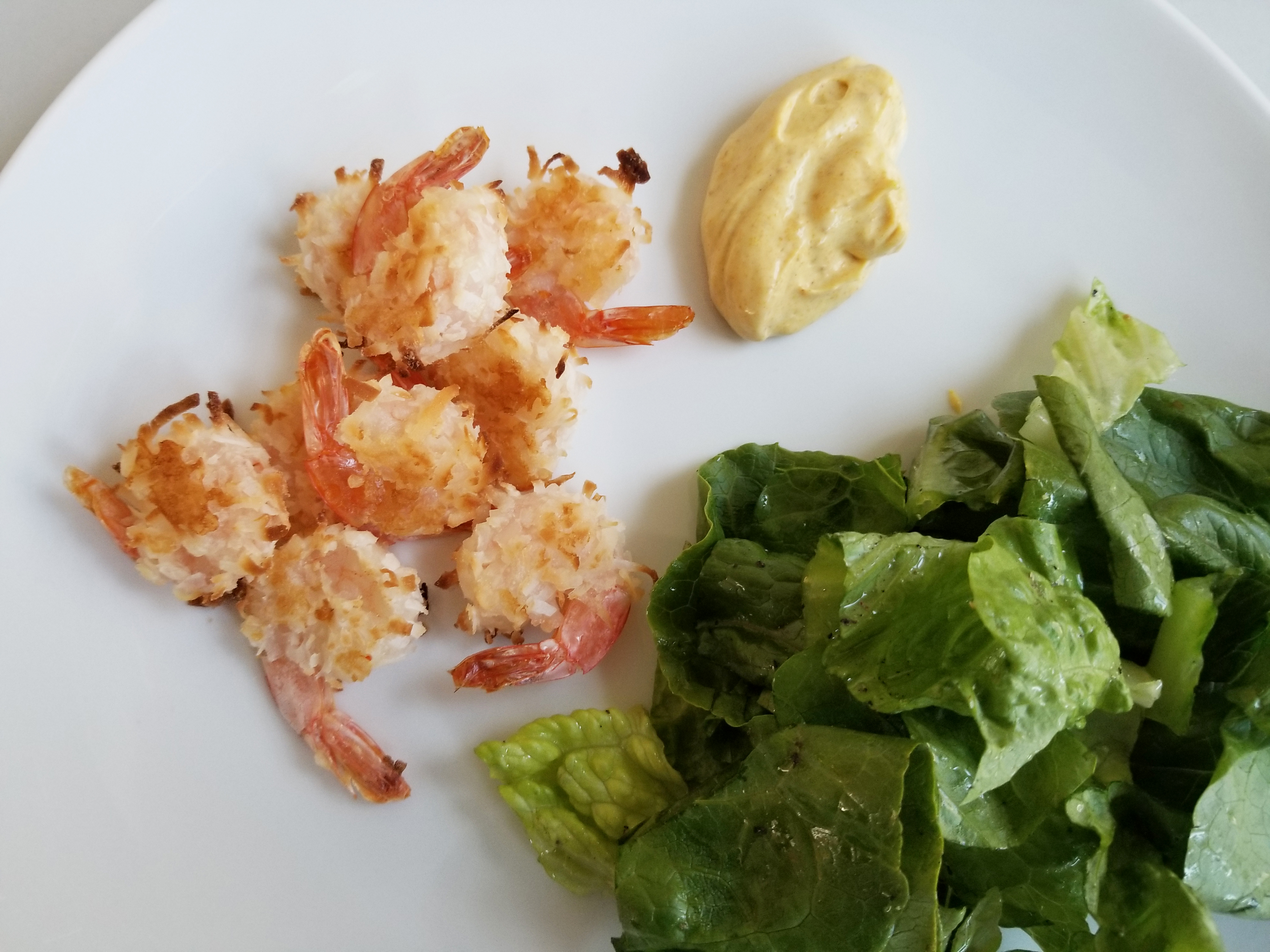 coconut shrimp with curry mayo