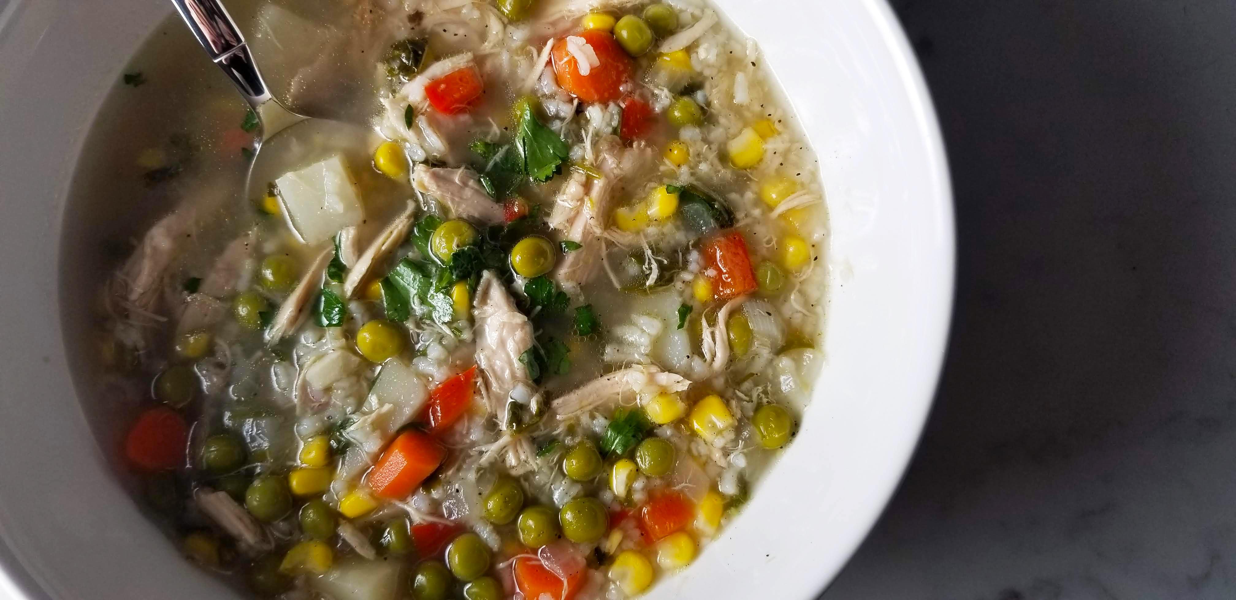 aguadito de pollo – peruvian chicken stew