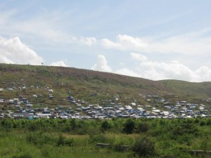 hillside tent city.