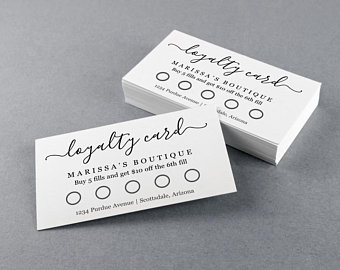 Loyalty Punch Card