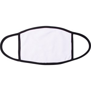 Black Edge Sublimation Blank Face Mask