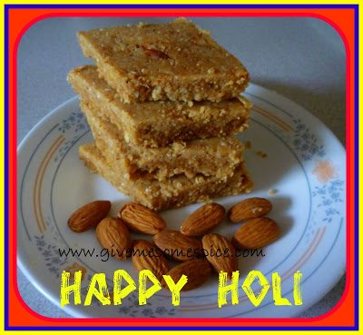Gor Papdi with Badam (Indian Sweet Dish with Almonds)