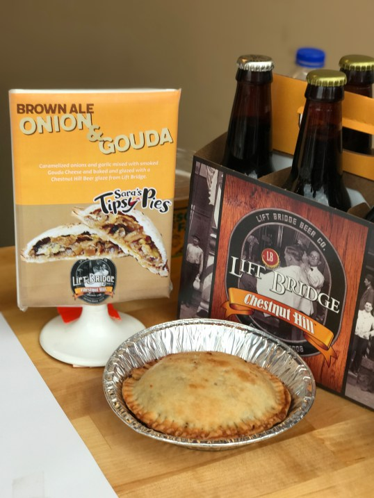If you like onion, split an onion and gouda hand pie with a friend. It's made with Lift Bridge beer. Pack some mints.
