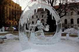 Winter Carnival ice sculpture
