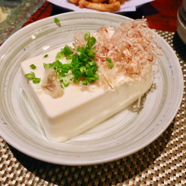 Itchi Tofu (2.25) - raw tofu with scallion and hondashi garnish, actually not that bad, but only for those who REALLY appreciate the blandness of raw tofu.