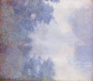 Matinée sur la Seine, Claude Monet, 1897<br />  Mead Art Institute, Amherst College, Massachusetts