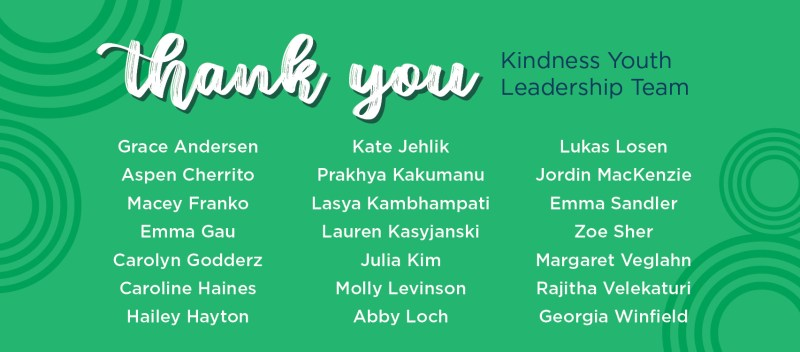 Thank You SevenDays® 2020 Kindness Youth Leadership Team (KYLT)