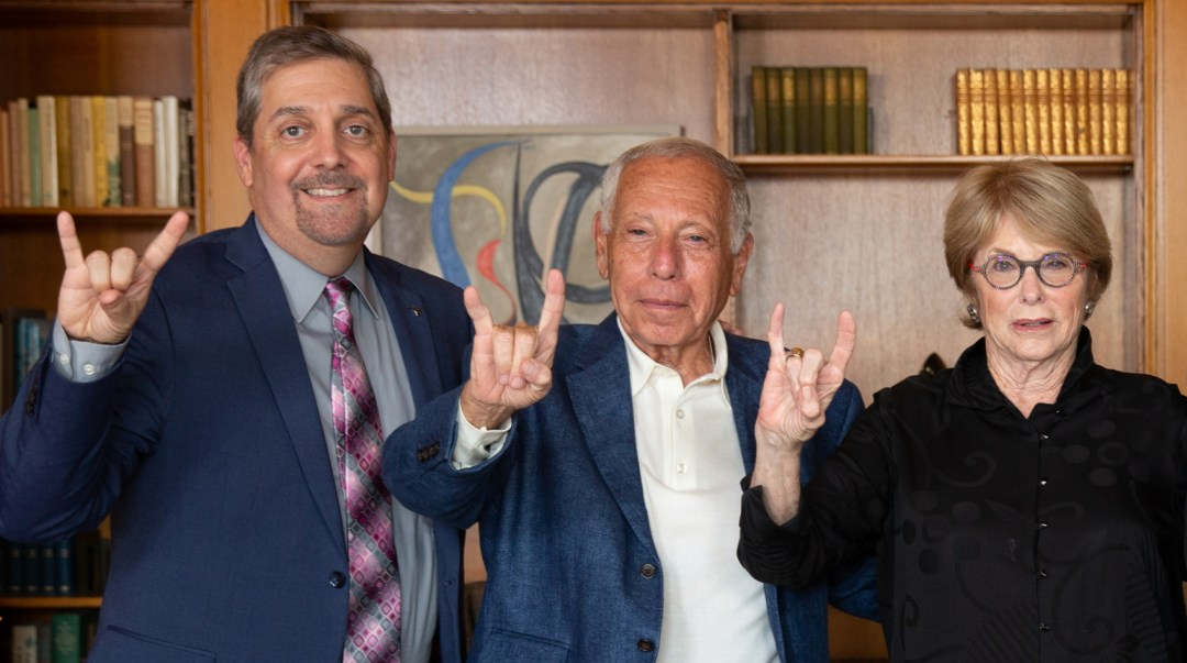Mickey and Jeanne Klein pictured with Dean Martinez