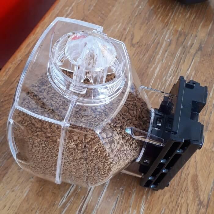コーヒーパウダー充填完了