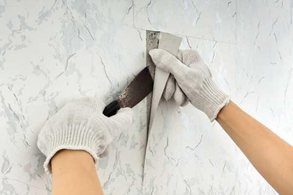 Как снять моющие обои со стен быстро в домашних условиях