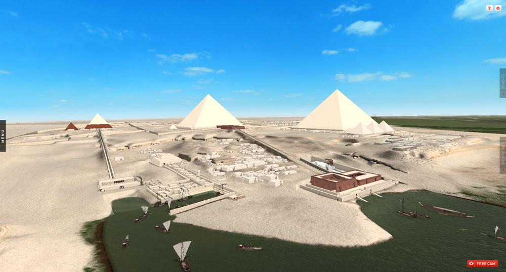 Digital Giza | Giza Plateau model: Site: Giza; View: Giza Plateau (model)