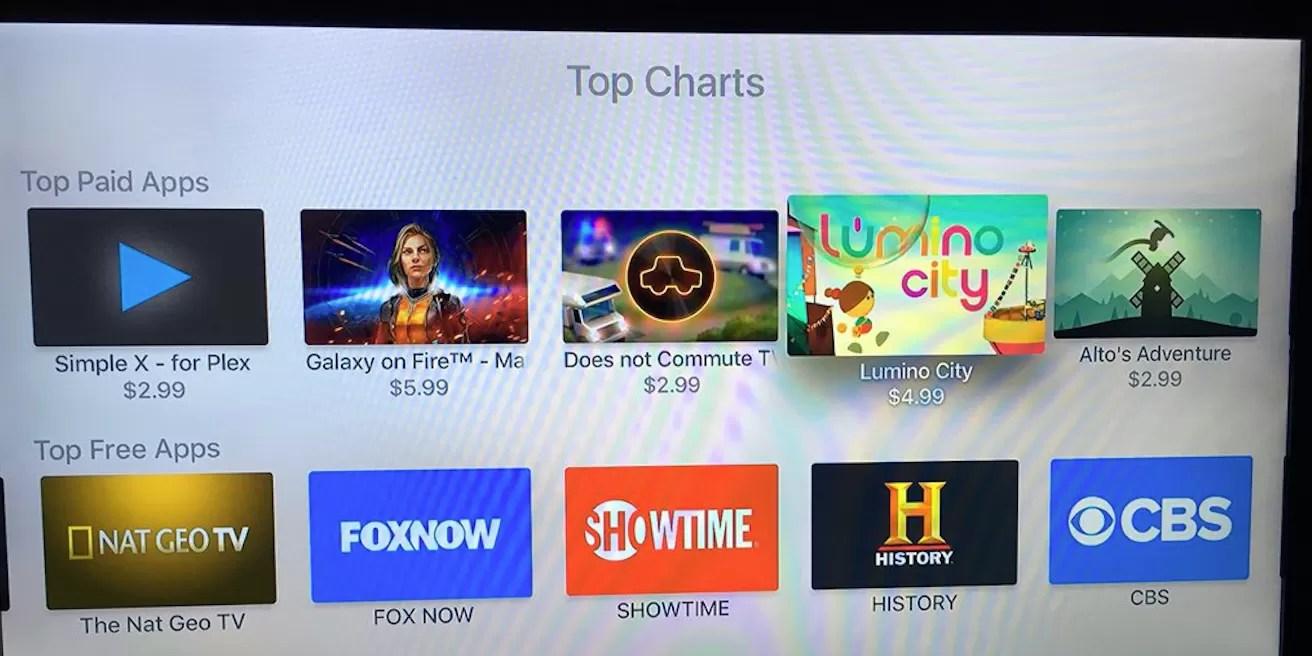 Top Chat nella Apple TV
