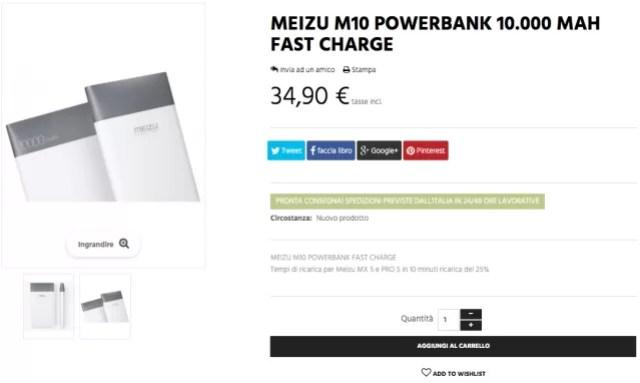 Meizu M10 powerbank