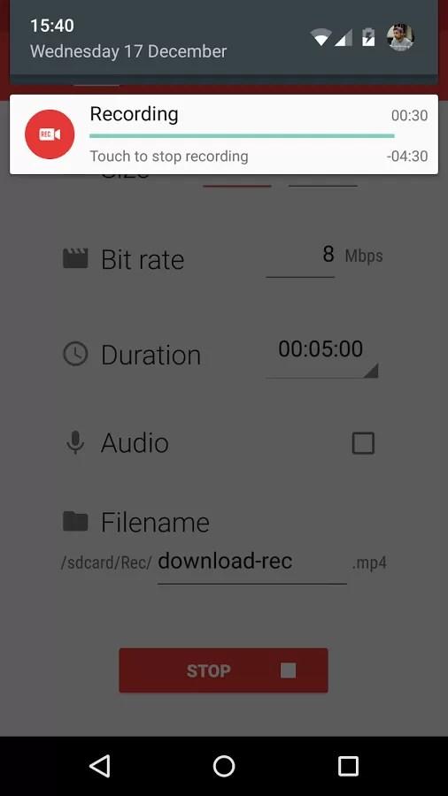 Rec., applicazione per Android