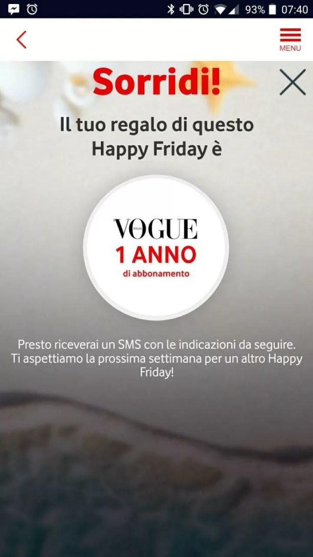 vodafone happy friday vogue screenshot