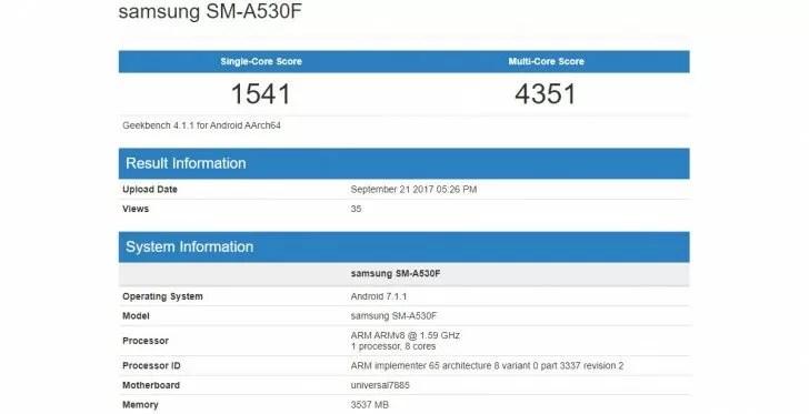 Samsung Galaxy A5 2018: le prime specifiche tecniche sono in rete