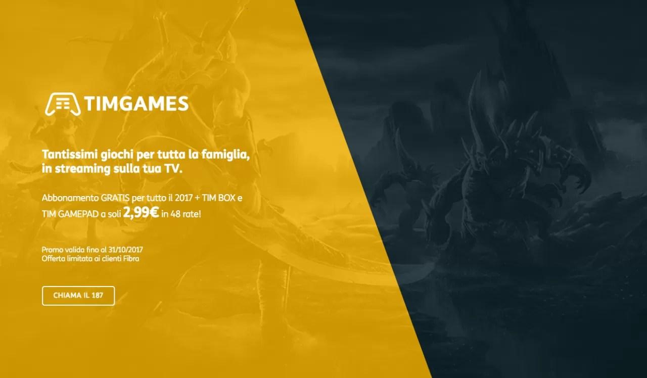 TIM presenta TIMGAMES, la piattaforma Android TV dedicata all'home gaming